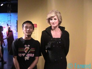 With Lady Diana's Statue