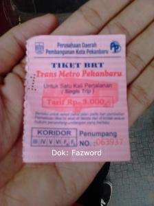 Tiket Trans Metro Pekanbaru | Doc: Fazword