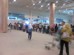 Check-In Counter Ngurah Rai Temporary Domestic Terminal | Doc: Fazword