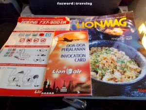 Lion Air Seat Pocket Contents | Doc: Fazword