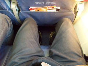Lion Air Economy Seat Legroom | Doc: Fazword