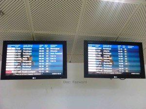 FIDS Bandara Internasional Lombok | Doc: Fazword