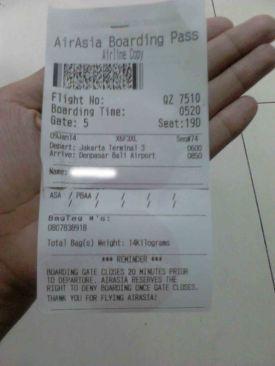 Boarding Pass AirAsia   Doc: Fazword
