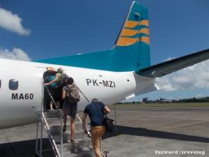 Boarding Merpati Nusantara MZ6604 to Lombok | Doc: Fazword