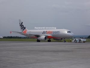 Jetstar Airways Airbus A320 VH-VGO at Lombok International Airport | Doc: Fazword