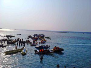 Banana Boat Pulau Tidung | Photo: fazword