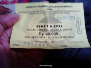 Tiket Kapal Pulau Tidung - Muara Angke | photo: fazword