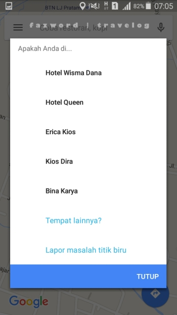 Wisma Dhana, Hotel Queen, Penginapan Artha Maps| photo: fazword